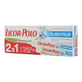 Pasta de dientes Licor del Polo Blanco Polar 2x75 ml