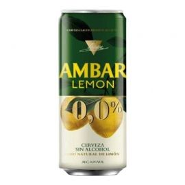 Cerveza Ambar Lemon 33 cl pack 24 latas