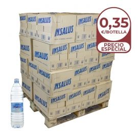 Agua mineral Insalus 1.5 litros palet 36 packs de 12 botellas