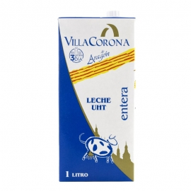 Leche entera Villacorona 1 litro pack de 6 bricks