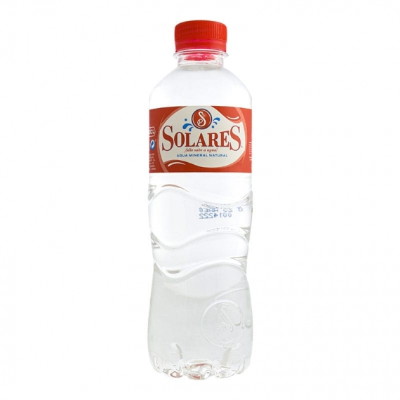 Agua mineral Solares 500 ml pack 24 botellas
