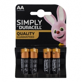 Pilas AA Simply Duracell 4 ud